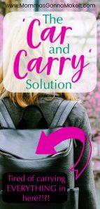 2 diaper bags, car diaper bag, car bag, car and carry solution