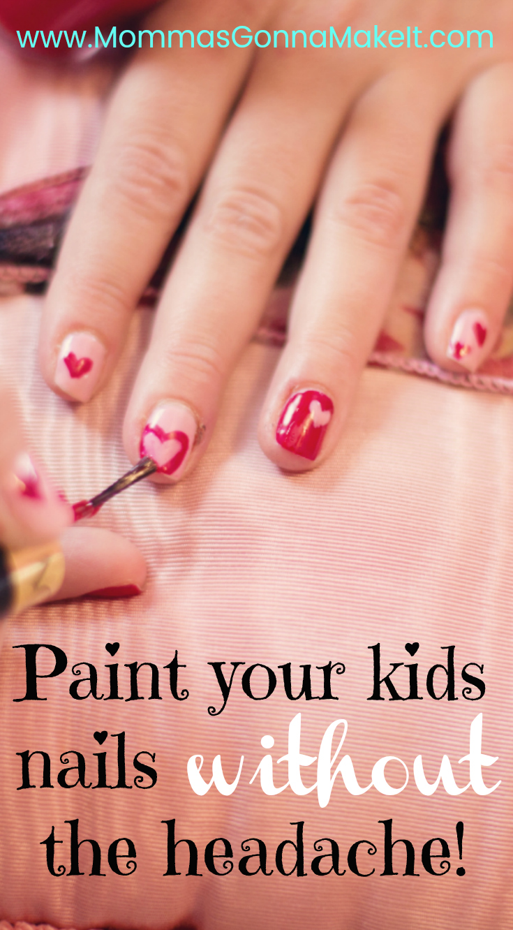 Painting Kids Nails without the Headache