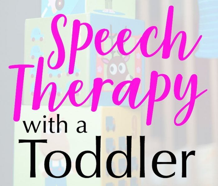 Speech Therapy with a Toddler
